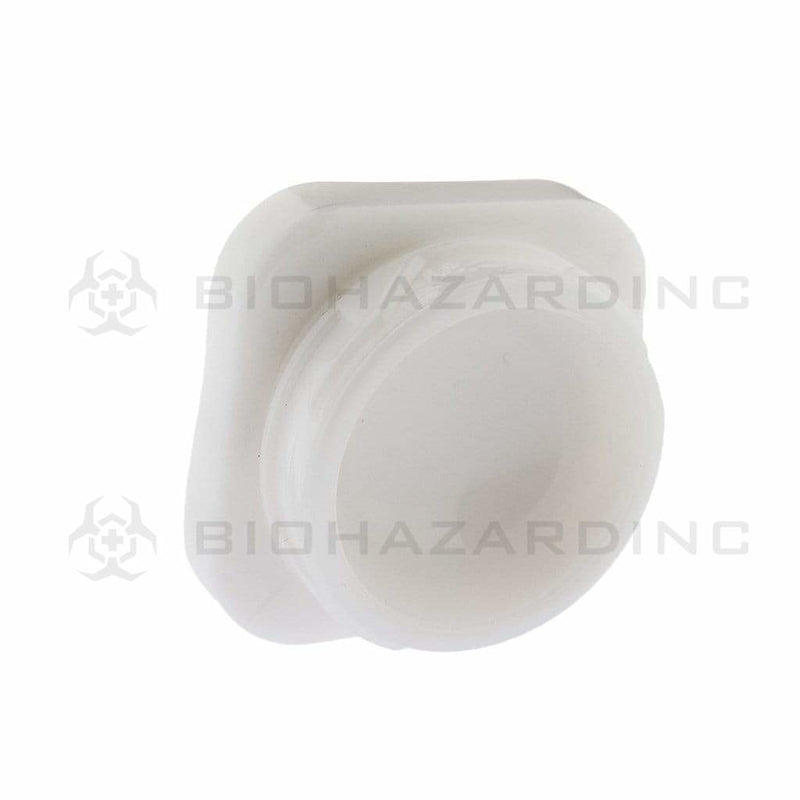 Biohazard Inc Glass Jar 9mL Square Glass Jar - White - 250 Count