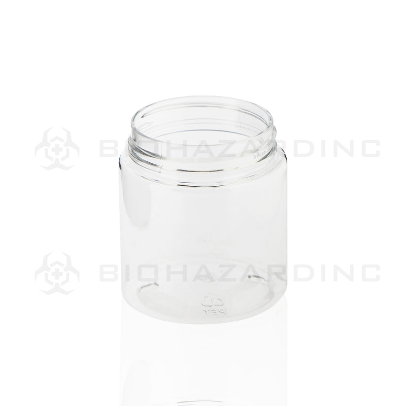 Clear Plastic Jar w/ Black CRC | | 4oz - 53mm - 100 Count