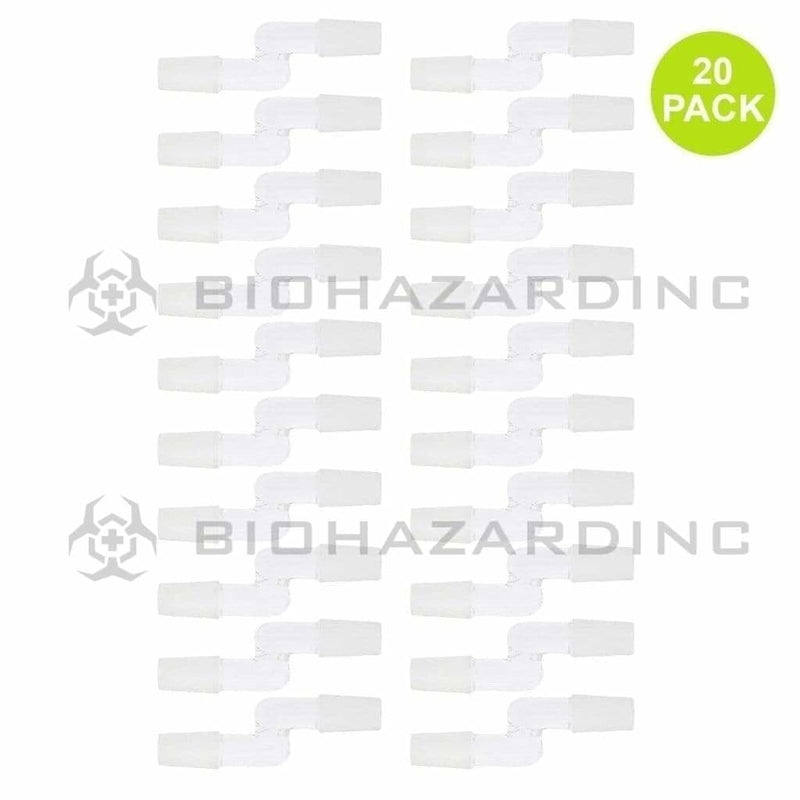 Biohazard Inc Glass Bong Adapter Bent Adapter - 14mm Male - 20 Count