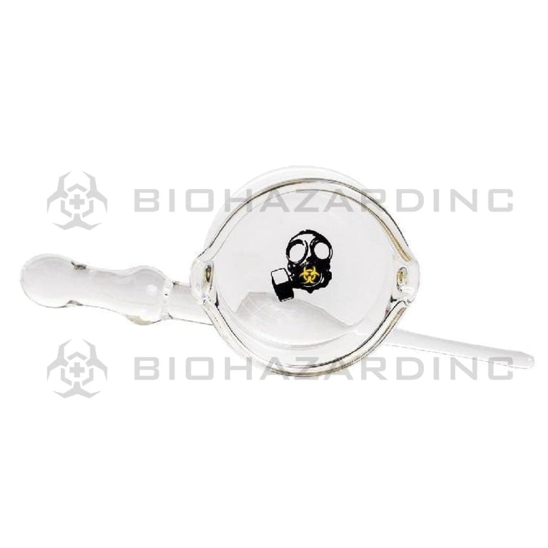 Bio Glass Dab Dish and Stick Tool BIO Glass Dish and Dabber Set - Yellow Gas Mask Logo