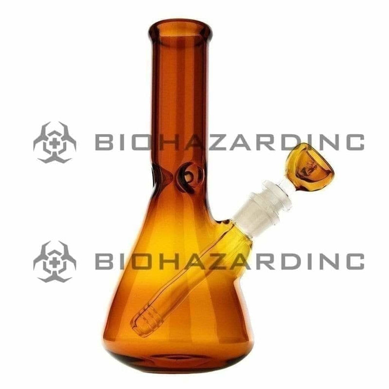"9"" Beaker Water Pipe - Amber"