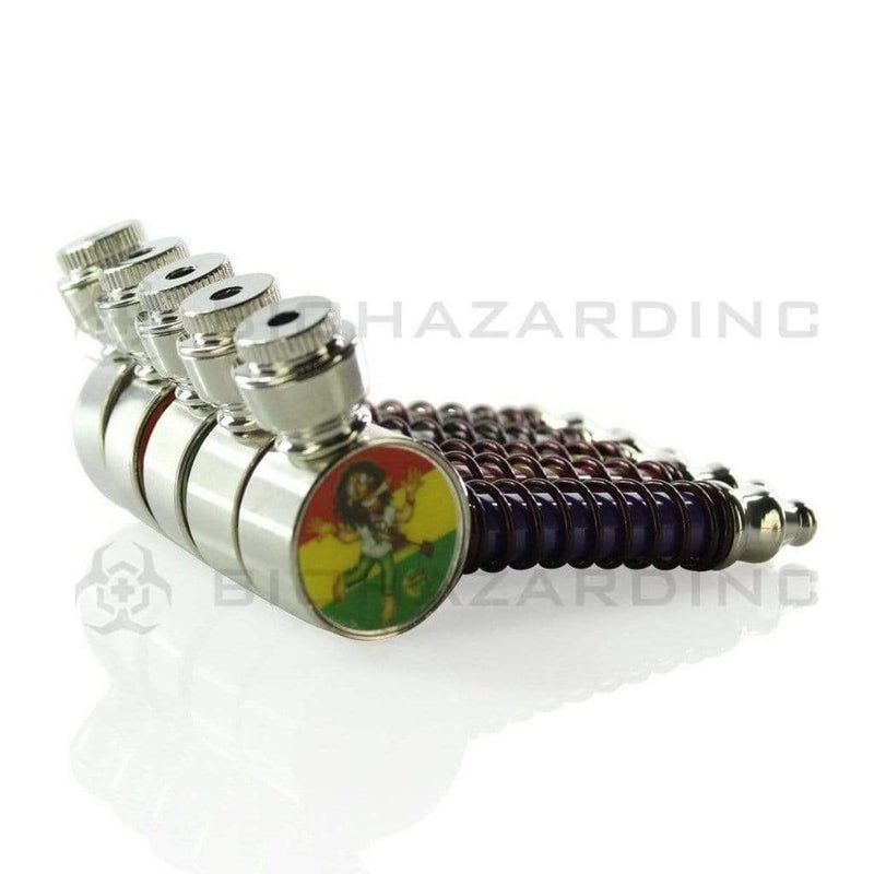 "3"" Round Elbow Pipe W/ Metal Wire Wrap - Asssorted Colors"