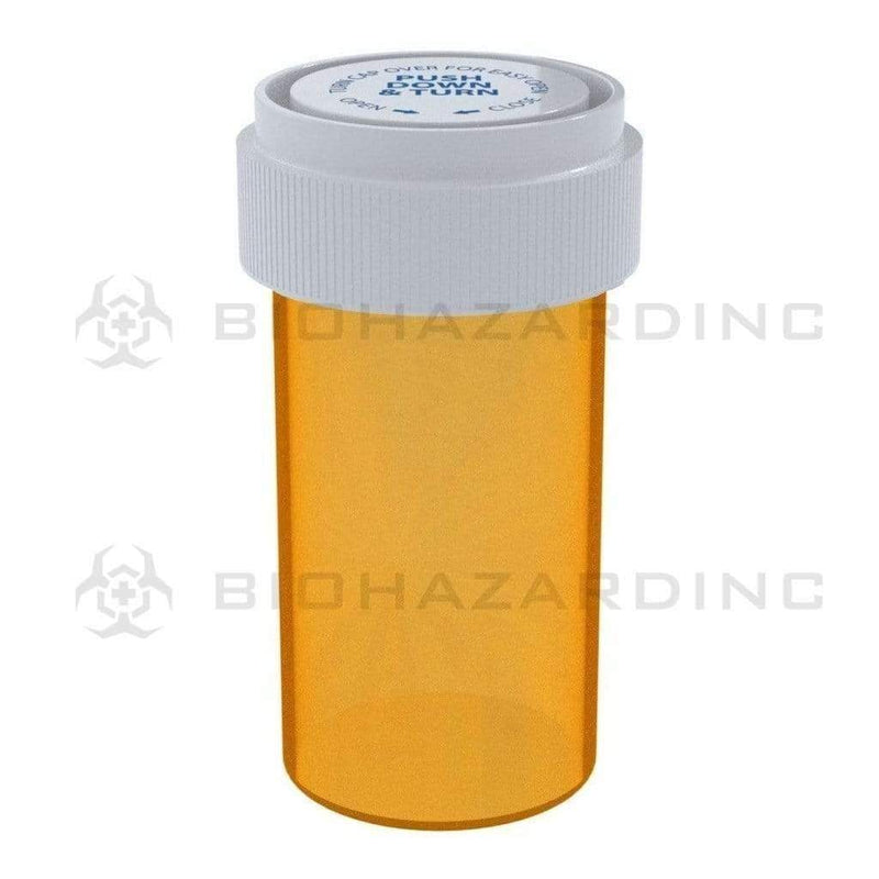 Biohazard Inc Reversible Cap Vial Amber Reversible Cap Vial 13 Dram - 275 Count