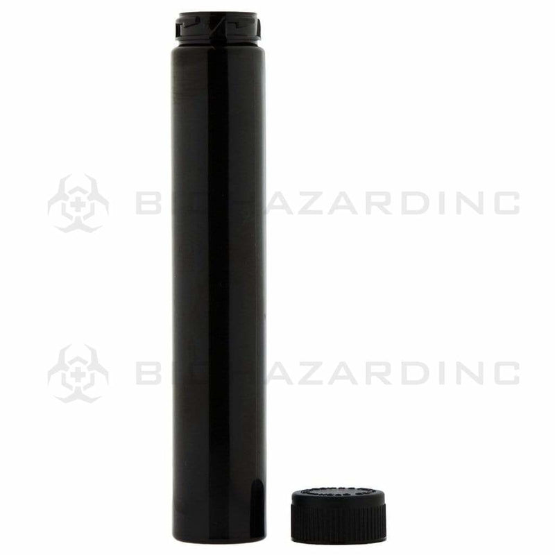Biohazard Inc Storage Tube Black Child Resistant Vape / Cartridge Container - 125mm - 400 Count