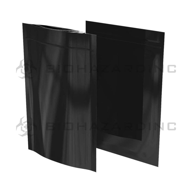 Biohazard Inc Mylar Bag Black Mylar Bags 6in x 9.25in - 28g - 1,000 Count (Tamper Evident)