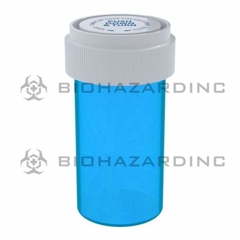 Biohazard Inc Reversible Cap Vial Blue Reversible Cap Vial 13 Dram - 275 Count