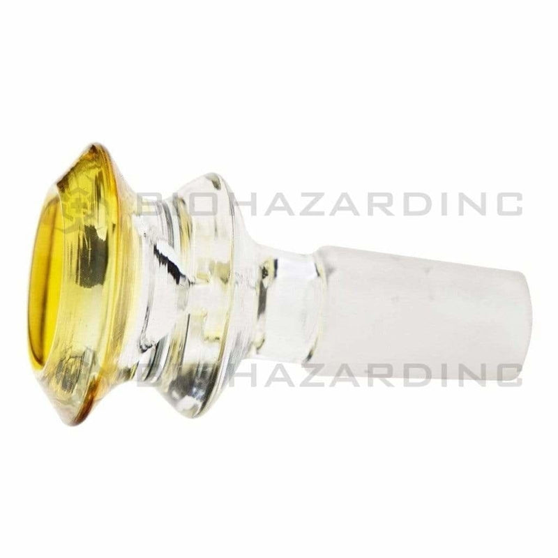 Biohazard Inc 14mm Bowl Bowl Funnel Male 14mm - Yellow Trim