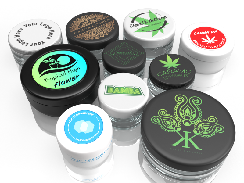 Custom Packaging & Private Labeling | Printed Caps | Flower Glass Jars, Concentrate Jars, & more