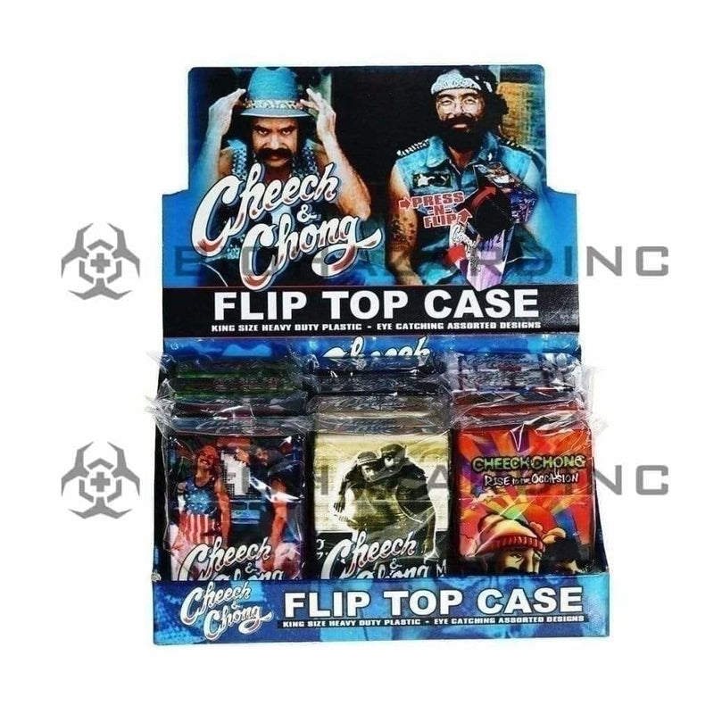 Cheech and Chong Cigarette Case Cheech & Chong Cigarette Case With Flip Top - 12 Count