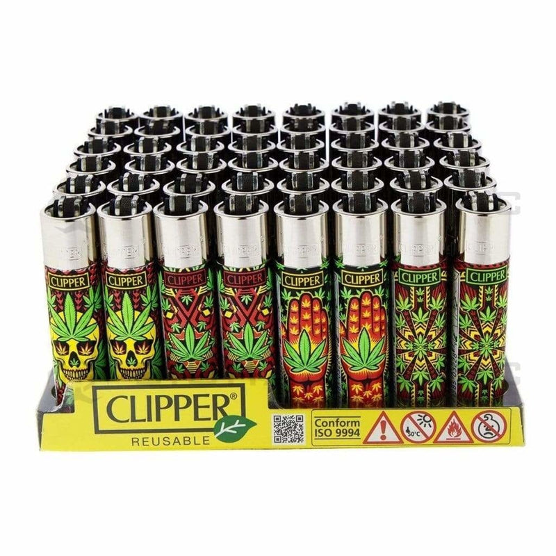 Clipper Lighters Clipper Lighters Leaf Pattern - 48 Units