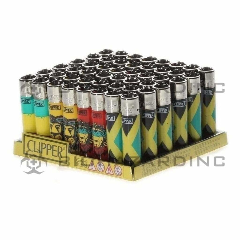 Clipper Lighters Clipper Lighters Rasta - 48 Count