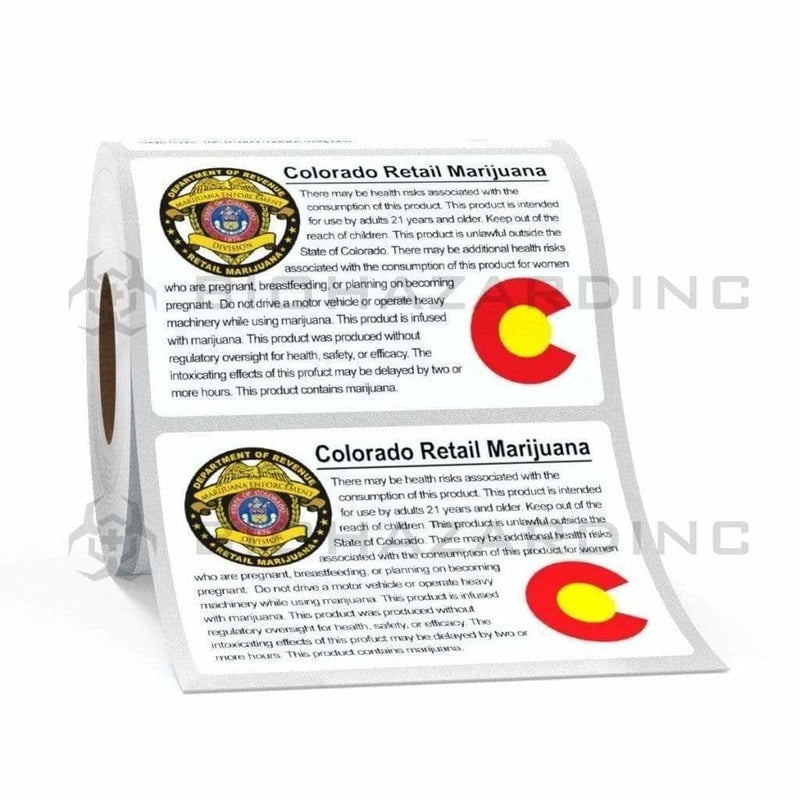 Biohazard Inc Compliance Labels Colorado Compliant Labels - Retail Marijuana - 1000 Count