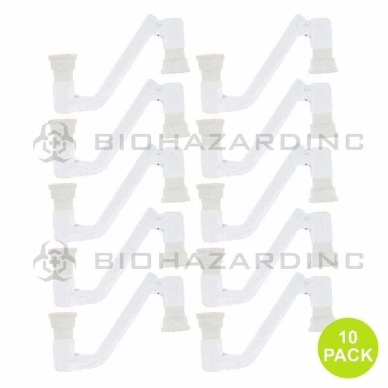 Biohazard Inc Glass Drop Down Drop Down - Universal 19/14 Female - 10 Count
