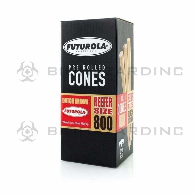 Futurola Pre-Rolled Cones Futurola 98mm Reefer Size Dutch Brown Pre-Rolled Cones - 800 Count