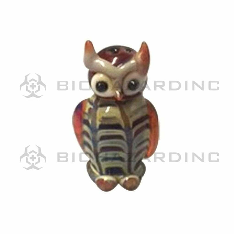 Biohazard Inc Glass Pendant Glass Owl Pendant 1""