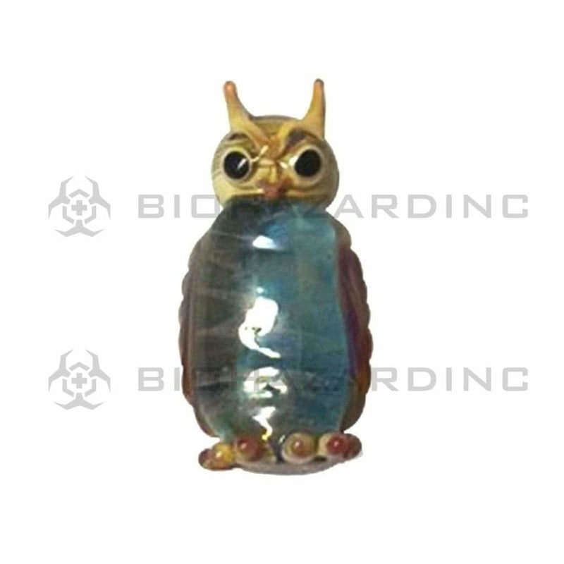 Biohazard Inc Glass Pendant Glass Owl Pendant 2""