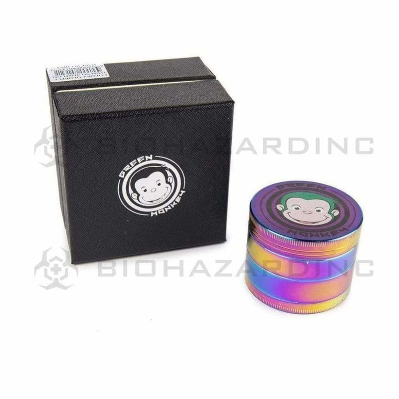 Green Monkey Metal Grinder Green Monkey 55mm Grinder - Rainbow