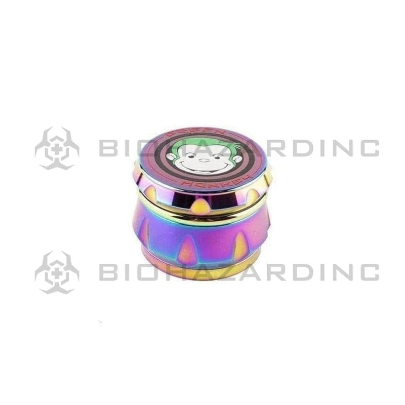 Ooze Metal Grinder Green Monkey Baboon Crown 63mm Grinder - Rainbow