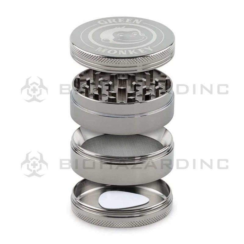 Green Monkey Metal Grinder Green Monkey Capuchin 63mm Grinder - Gunmetal