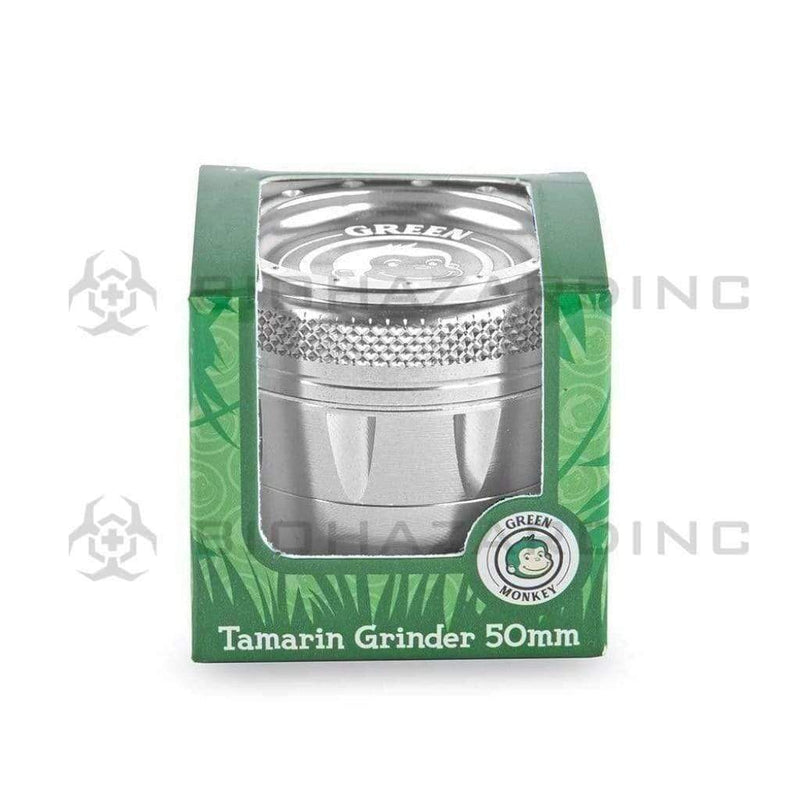 Green Monkey Metal Grinder Green Monkey Tamarin 50mm Grinder - Silver