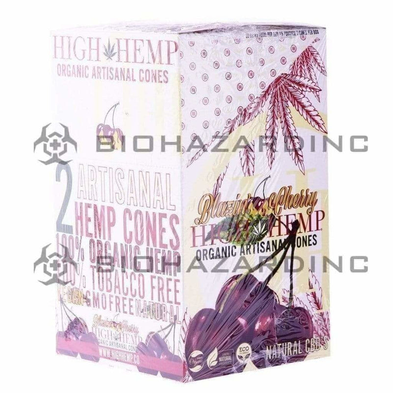 Biohazard Inc Pre-Rolled Cones High Hemp Artisanal Hemp Cones - Cherry - 15 Count
