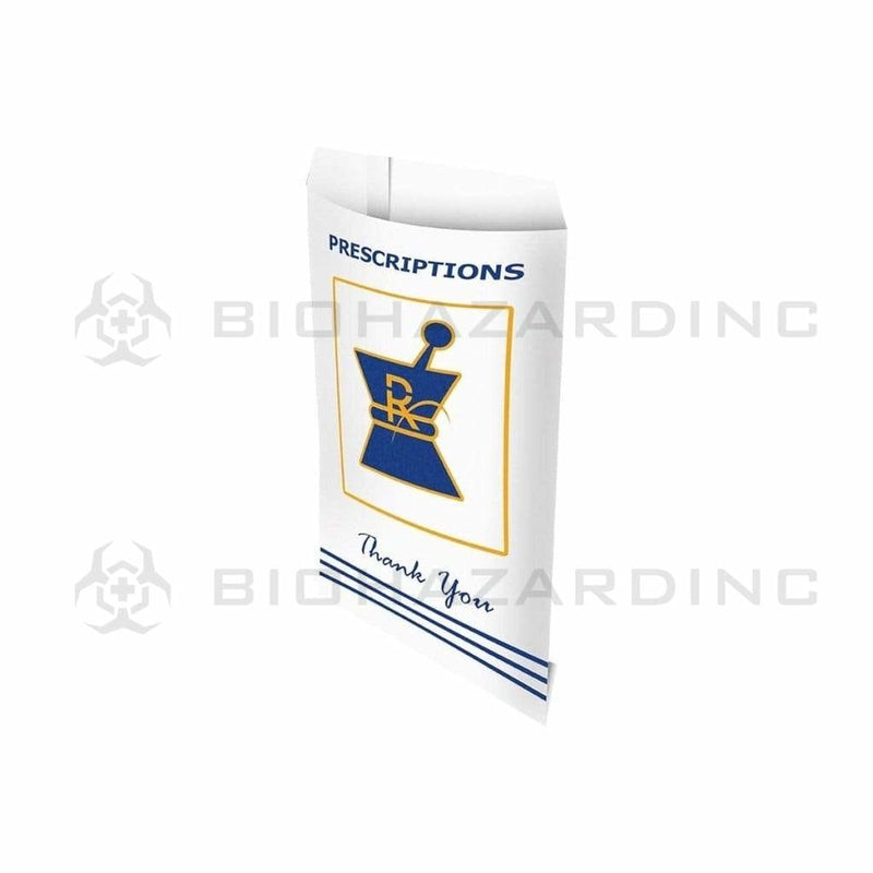 Biohazard Inc RX Bag Large Pharmacy White RX Exit Bags - 1000 Count
