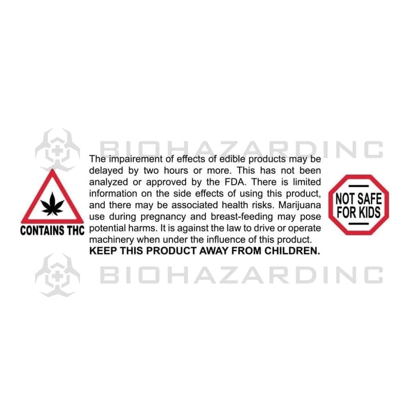 "Biohazard Inc Compliance Labels Massachusetts - Maine ""Not Safe For Kids"" Labels - .75"" x .75"" - 1,000 Count"