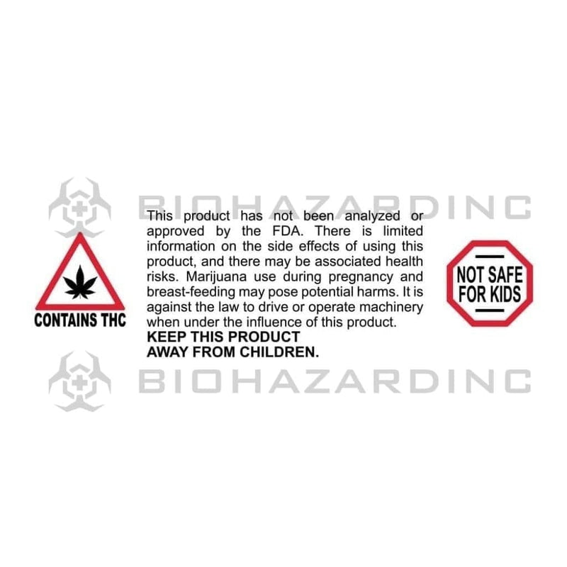 "Biohazard Inc Compliance Labels Massachusetts Warning Labels 3"" x 1"" - 1,000 Count"