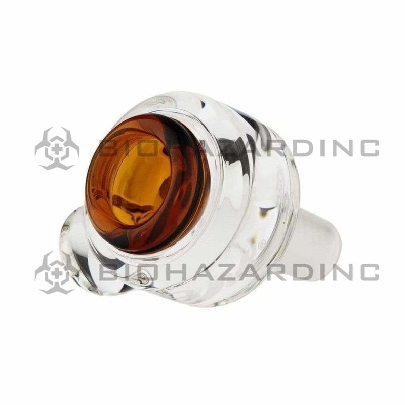 Pure Glass 14mm Bowl Pure Cylinder Marble 14mm Bowl - Amber