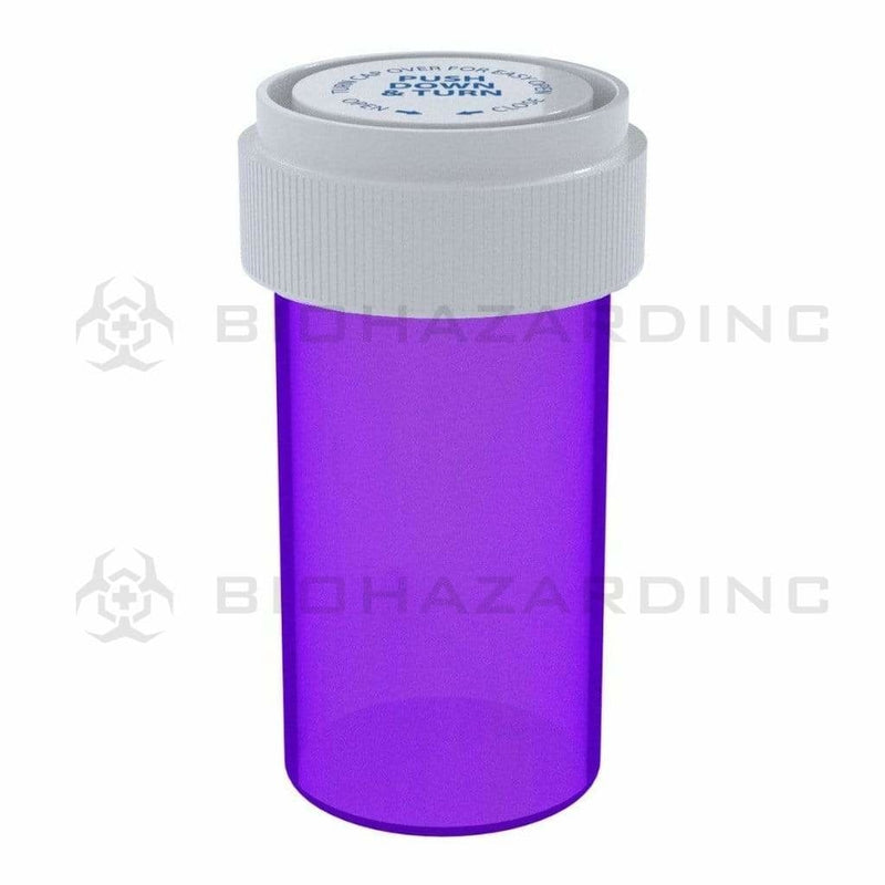 Biohazard Inc Reversible Cap Vial Purple Reversible Cap Vial 13 Dram - 275 Count