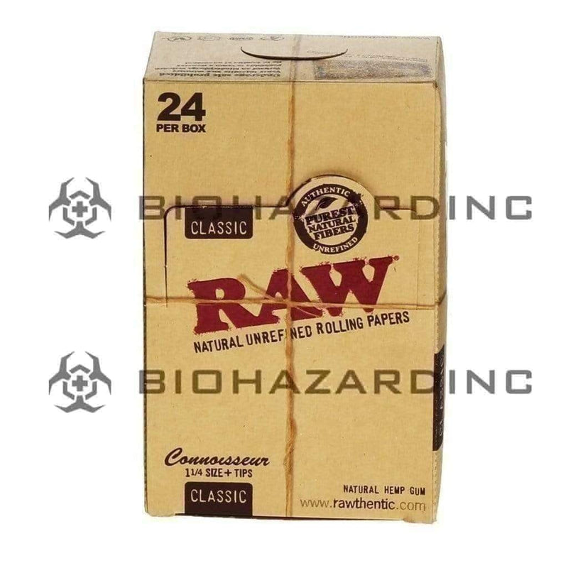 RAW Connoisseur Classic Rolling Papers + Tips | | 1¼ - 24 Count