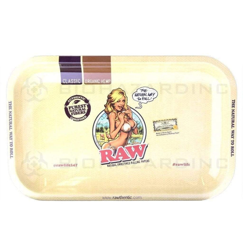RAW Rolling Tray - RAW Girl | Small