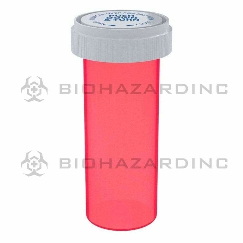 Biohazard Inc Reversible Cap Vial Red Reversible Cap Vial 30 Dram - 190 Count