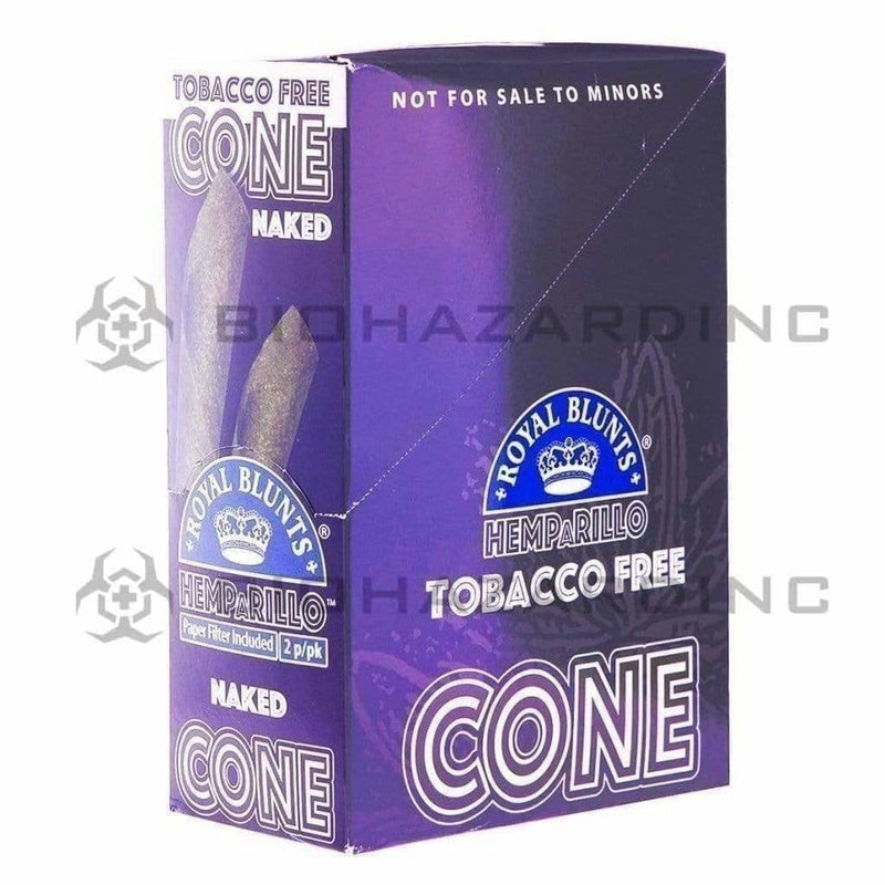 Biohazard Inc Pre-Rolled Cones Royal Blunts Hemparillos Hemp Cones - Naked - 10 Count