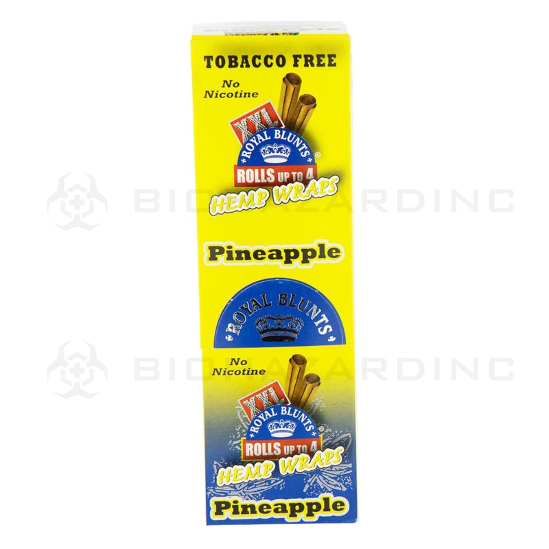 Royal Blunts Xxl Hemp Wraps - Pineapple 25 Count