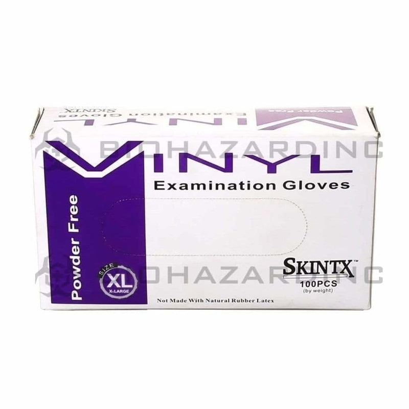 Skintx Glove Latex Skintx Glove Vinyl Powder Free Extra Large (100 Count)