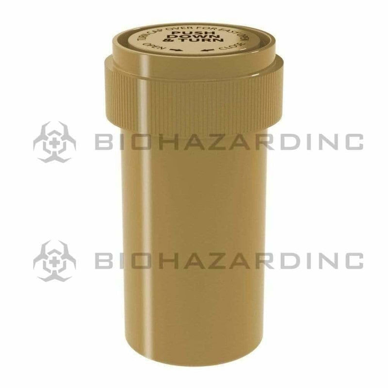 Biohazard Inc Reversible Cap Vial Solid Gold Reversible Cap Vial 13 Dram - 275 Count