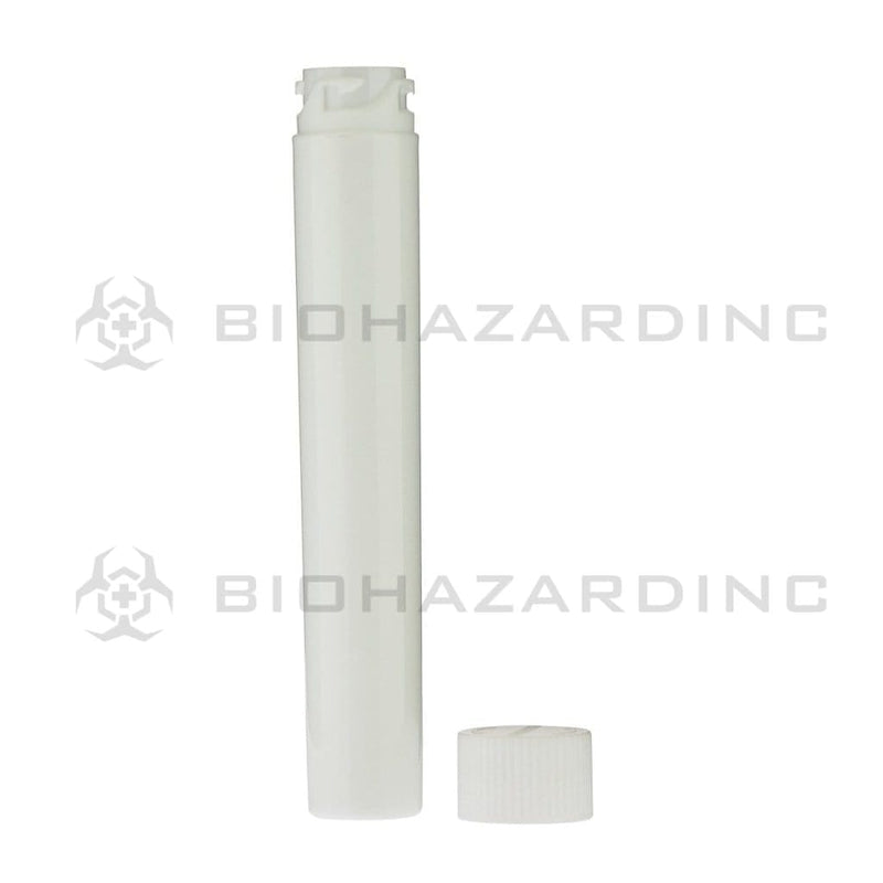 Biohazard Inc Storage Tube White Child Resistant Cartridge Container - 105mm - 500 Count