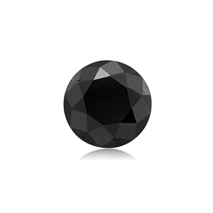1.49 Cts Treated Fancy Black Diamond AA Quality Round Cut