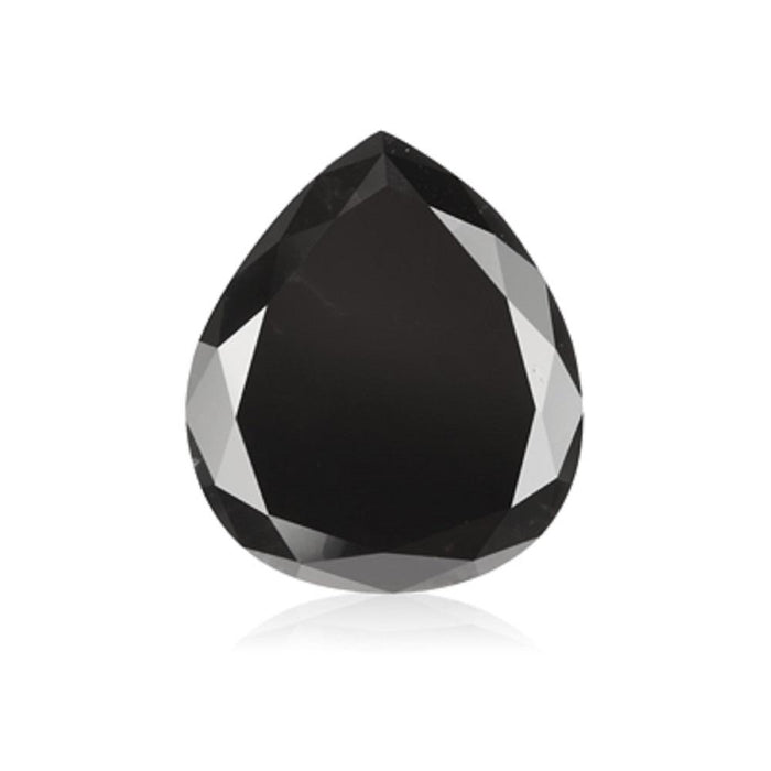 2.52 Cts Natural Fancy Black Diamond AAA Quality Pear Cut