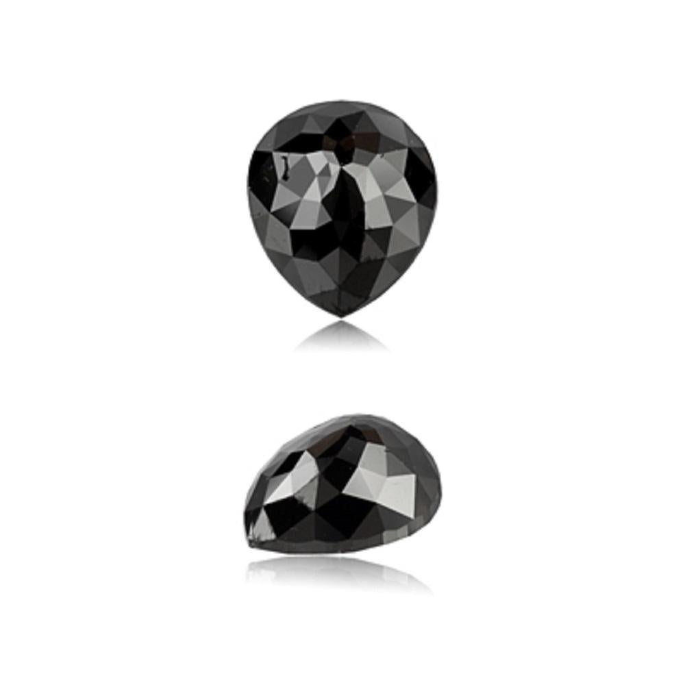 7.60 Cts Natural Fancy Black Diamond AAA Quality Pear Cut