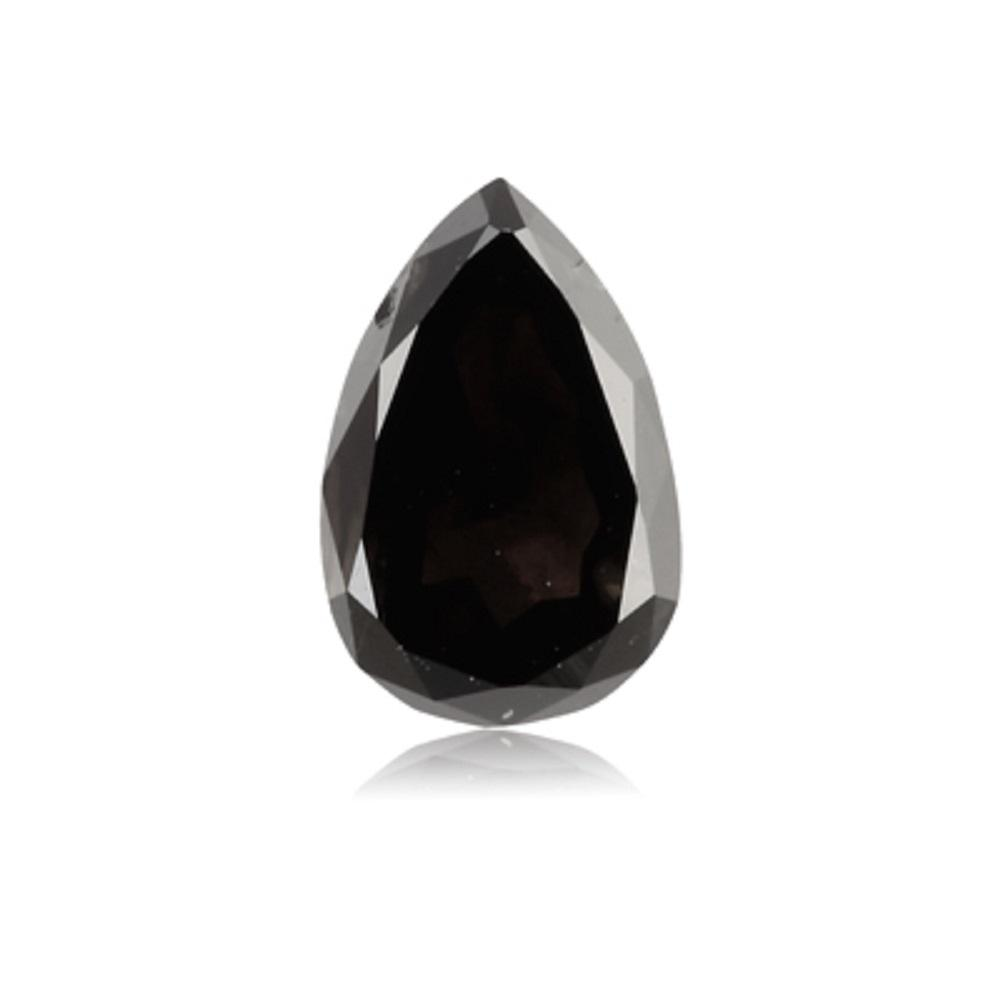 1.06 Cts Natural Fancy Black Diamond AAA Quality Pear Cut