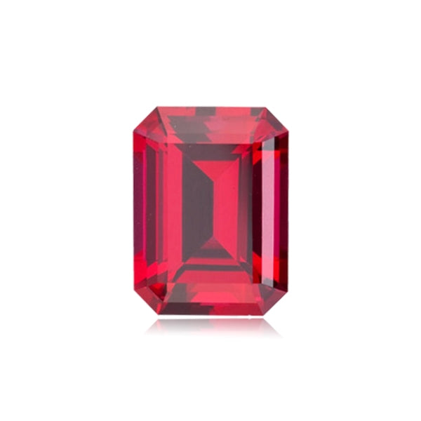 Synthetic Ruby Emerald-Cut
