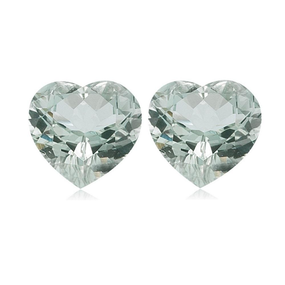 Natural Loose Green Amethyst Heart Cut