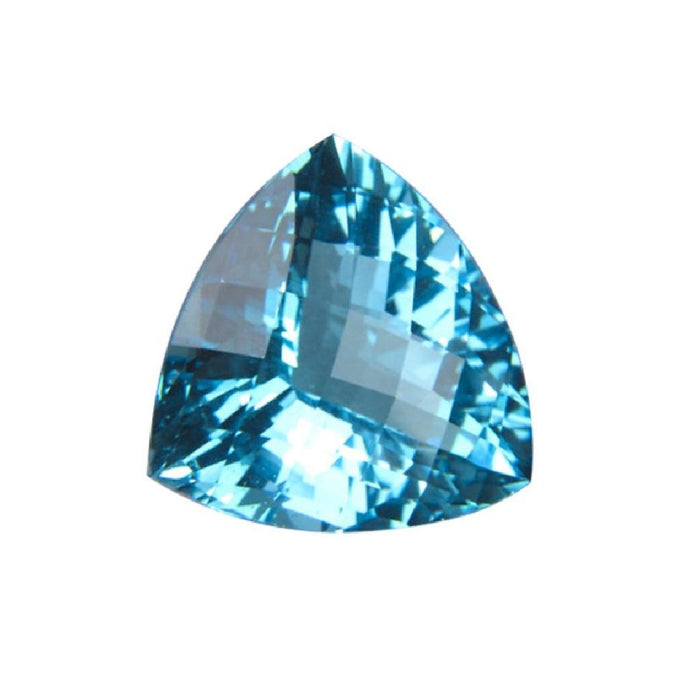 Swiss Blue Topaz Trillion Checkered Cut