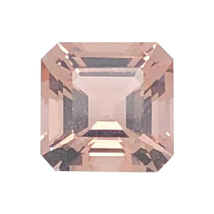 Natural Morganite Asscher Cut
