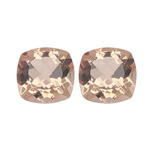 Natural Morganite Cushion Cut - (Squarish)