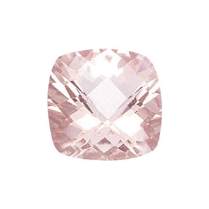 Natural Morganite Cushion Checkered Cut - (Squarish)