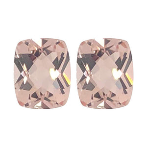 Natural Morganite Cushion Checkered Cut - (Elongated)