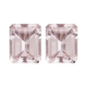 Natural Morganite Emerald Cut